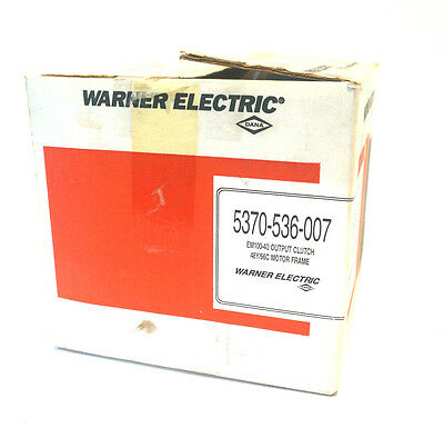 New Warner Electric 5370-536-007 Em100-40 Output Clutch 5370536007