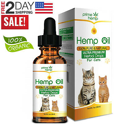 Hemp Oil Dog Cat Pet Joint Organic Extract Anxiety Calming Pain Stress Relief