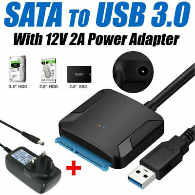 USB 3.0 To SATA 22 Pin 3.5 Inch Hard Disk Drive SSD Adapter Connector Cable Lead