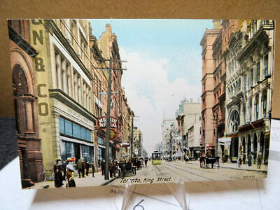 1909 Postcard King Street Toronto Canada Unused