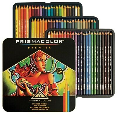 Prismacolor Premier Soft Core Colored Pencils Waterproof 72 Count