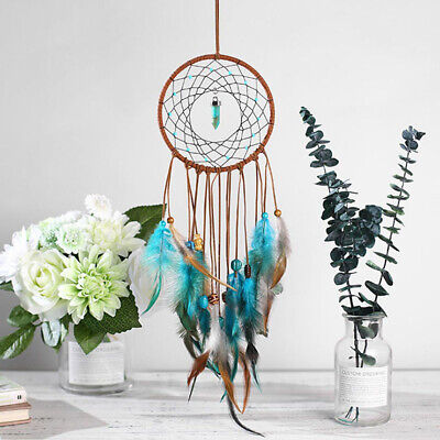 Circular Colorful Feather Dream Catcher Wall Hanging Ornament Decoration