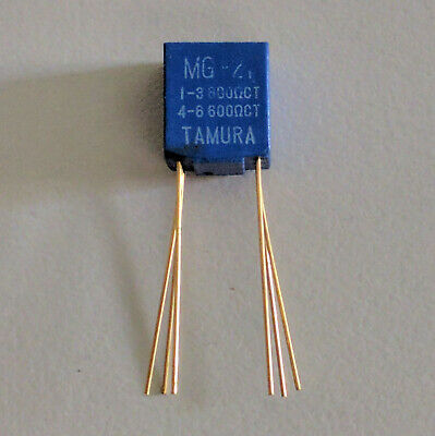 Tamura MG-21 Audio Frequency Transformer 600Ω:600Ω Centre Tap