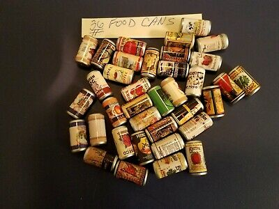 Vintage Gumball/Vending/Dime Store Food Cans Lot Of 36
