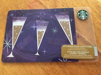 """Canada Series Starbucks """"PARTY CHEERS 2016"""" Gift Card - New No Value"""