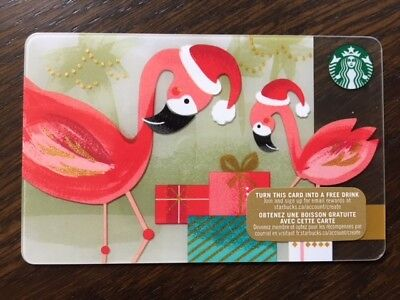 "Canada Series Starbucks ""CHRISTMAS FLAMINGO'S 2015"" Gift Card - New No Value"