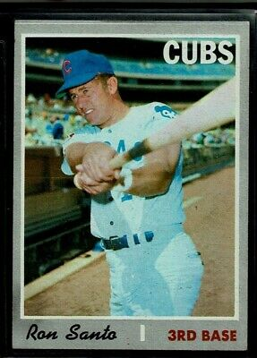 1970 Topps Baseball Chicago Cubs Ron Santo High Number Card 670 Sp Exmt Centered