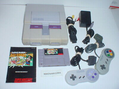 Official SUPER NINTENDO SNES complete system + MARIO ALL-STARS w/ 1 2 3 Trilogy