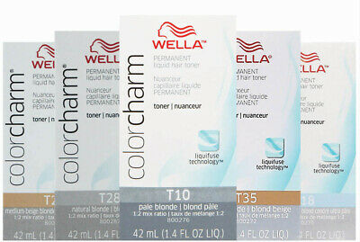 Wella-T18 Lightest Ash Blonde T10 T11 T14 T15 T18 T27 T28 T35+Developer (Vol.20)
