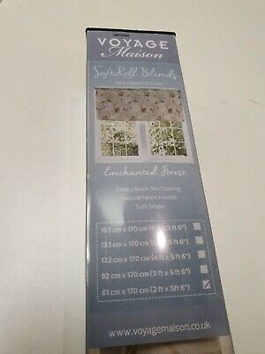 VOYAGE Enchanted Forest Ready Made Soft roll blackout roller blind 61cm wide