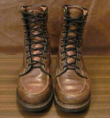 b4502a8f94261 VINTAGE SEARS LEATHER Gold Bond Chukka Boots, Men's size 9E, Hunting ...
