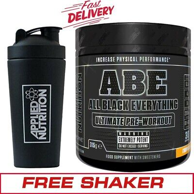 Applied Nutrition ABE All Black Everything Pre Workout + FREE Steel Shaker