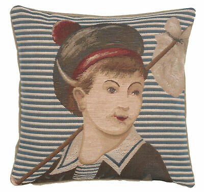 Ship's Boy French Tapestry Cushion Pillow Cover Vintage Fine Art Home Decor