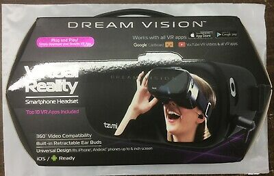 TZUMI Dream Vision Virtual Reality Design Smartphone Headset & Earbuds #5862
