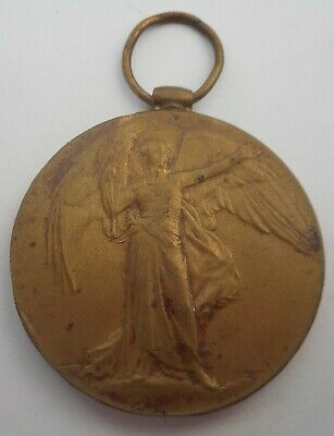WWI VICTORY MEDAL, Charles Wall, 4th and 56th Battalion, A.I.F.  - part erased