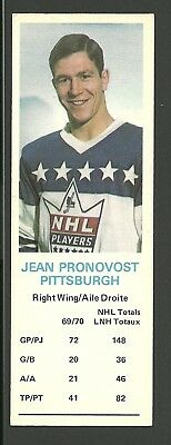 Jean Pronovost Pittsburgh Penguins 1970-71 Dad's Cookies Hockey Card EX/MT