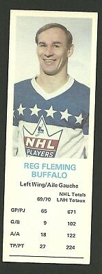 Reg Fleming Buffalo Sabres 1970-71 Dad's Cookies Hockey Card EX/MT