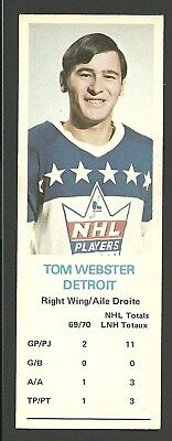 Tom Webster Detroit Red Wings 1970-71 Dad's Cookies Hockey Card EX/MT