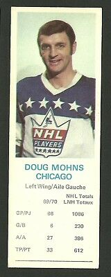 Doug Mohns Chicago Blackhawks 1970-71 Dad's Cookies Hockey Card EX/MT