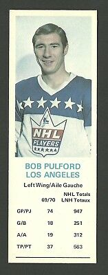 Bob Pulford Los Angeles Kings 1970-71 Dad's Cookies Hockey Card EX/MT