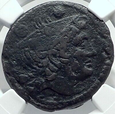 Roman Republic ANONYMOUS Sextans 2nd Punic War Time vs Hannibal Coin NGC i78888