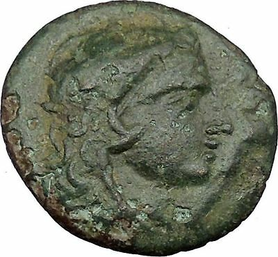 Lysimacheia in Thrace 309BC Ancient Greek Coin Young Hercules NIke Cult  i37469