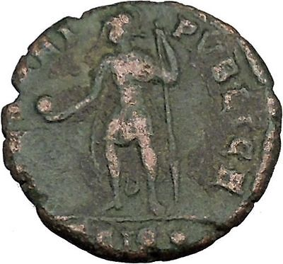 CONSTANTIUS II Constantine the Great son with globe Ancient Roman Coin  i37541