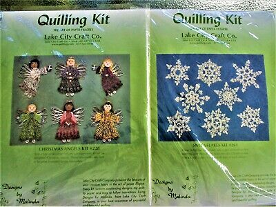 DOUBLE Quilling Kits Sampler Kit #228 Angels & #261 Snowflakes Lake City Craft