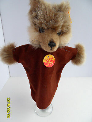 Steiff wolf hand puppet all IDs stuffed animal Germany 2634