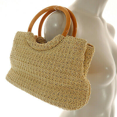 FOSSIL BROWN WOVEN Weave Leather Zip Closure Shoulder Bag