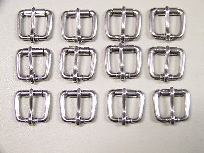 Leather Craft Buckles #50 Roller Buckle Stainless Steel 3/4 Inch Size Qty of 12