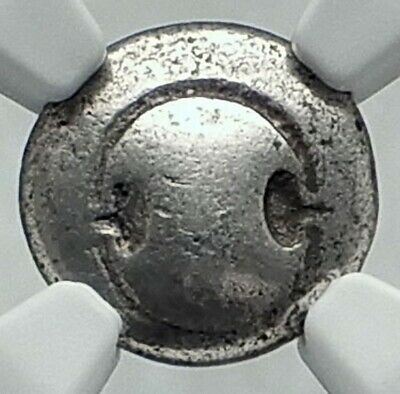Thebes in Boeotia Authentic Ancient Silver Greek Coin SHIELD AMPHORA NGC i78722