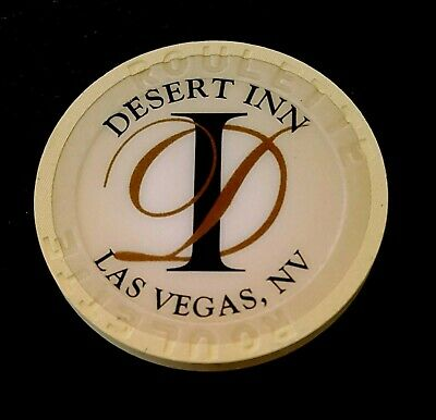 Las Vegas Desert Inn Roulette Cream Casino Chip - Uncirculated