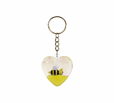 Oily Keyrings Heart Mini Aussie Gifts Souvenirs Coloured Liquid Floaters