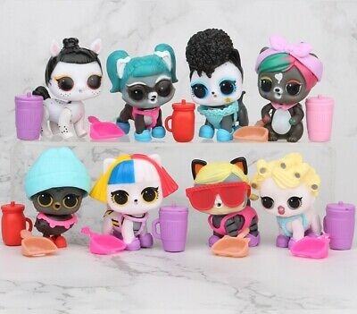 LOL Surprise Doll Pets Kitty Series Ornament for Kids Toy Gift 8 pcs Figures Set