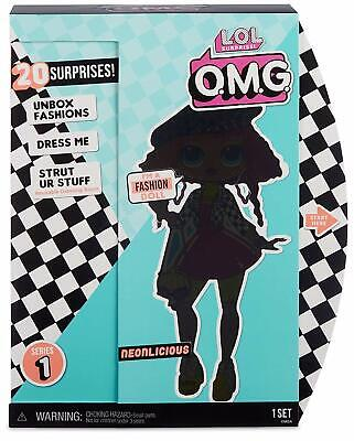 LOL Surprise! Sister Neonlicious OMG Fashion Doll 20 Surprises Playset BACKORDER