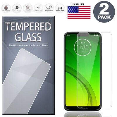 2-Pack Tempered Glass Screen Protector For Motorola Moto G7 Play G7 Power Supra