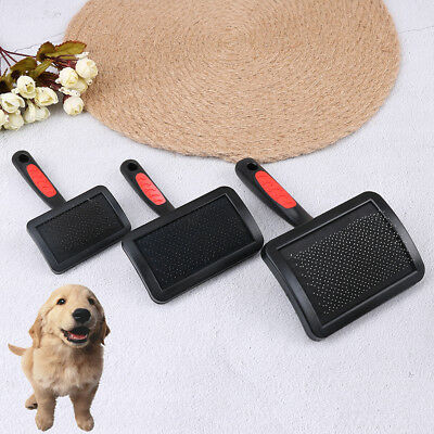 1Pc Handle shedding pet dog cat hair brush pin grooming trimmer comb tool `FR