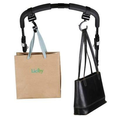 Shopping Bag Hooks Buggy Clips Large Hand Carry Pram Pushchair Stroller Clip YW