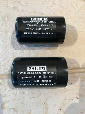 3535B1A0053A165A1 Philips 53-64uF 165V Application Motor Start Capacitor