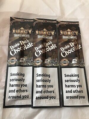 3x£4.99 Double Chocolate   Blunt Wraps 2 Per Pack Wham Bam