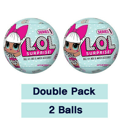 L.O.L. Surprise Double Pack Series 1 Big Sister 7 Layers Blue Ball - LOL Suprise