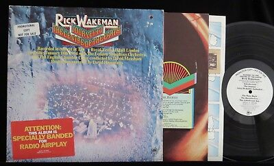 RICK WAKEMAN, Journey to the Centre of the Earth WHITE LABEL PROMO USA LP Yes