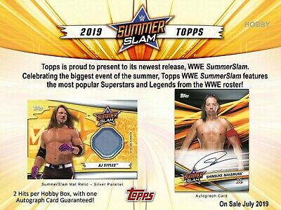2019 WWE Summerslam hobby boxes - PRE- SELL