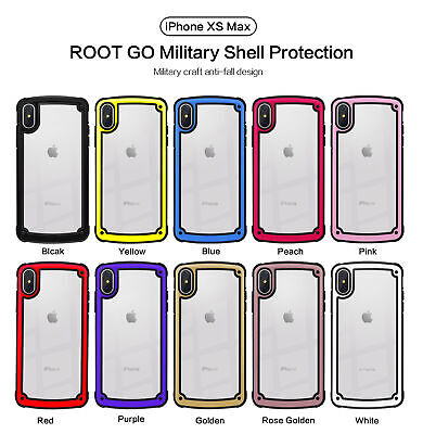 Soft Clear Bumper Silicone Shockproof Phone Case Cover For iPhone X Xs Max 8 7 6