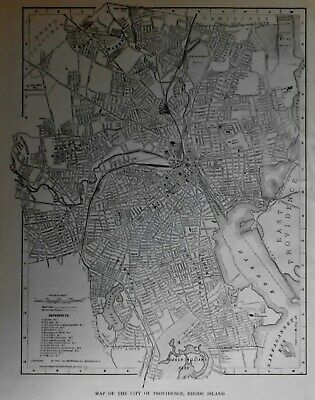 Nice Antique 1921 OLD Atlas City Map Providence, Rhode Island RI Vintage L@@K!