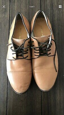 a6907405a59 URBAN OUTFITTERS SHOES Brown Leather and Wood Heel Sandals Size 6.5 ...