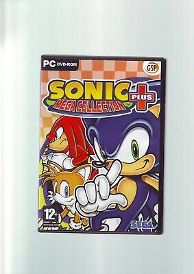 Sonic Mega Collection Plus / 20 Sonic The Hedgehog Games - Pc Game- Complete Vgc