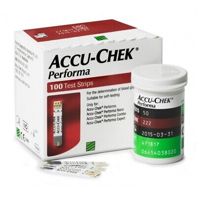 ACCU-CHEK Performa 100 Test Strips EXP-SEPT/2020 DELIVERY IN 7-15 DAYS FREE SHIP