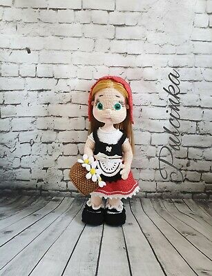 Bambola Cappuccetto Rosso Little Red Riding Hood Handmade Uncinetto Knitting